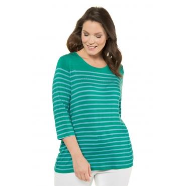 Ulla Popken  Shirt Damen 58/60, dunkelgrün, Viskose, Mode in großen Größen