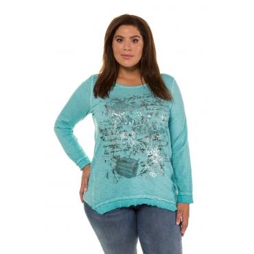 Ulla Popken  Shirt Damen Größe 58/60, helles petrolgrün, Baumwolle, Mode in großen Größen