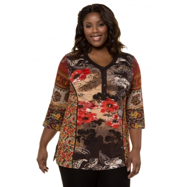Ulla Popken  Shirt Damen Größe 58/60, multicolor, Mode in großen Größen