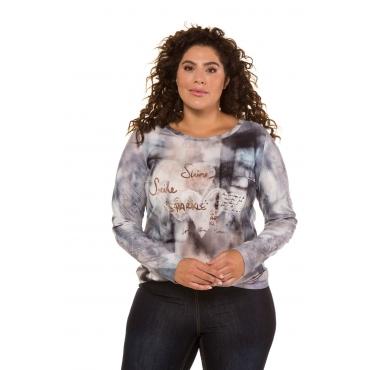 Ulla Popken  Shirt Damen 58/60, marine, Baumwolle, Mode in großen Größen