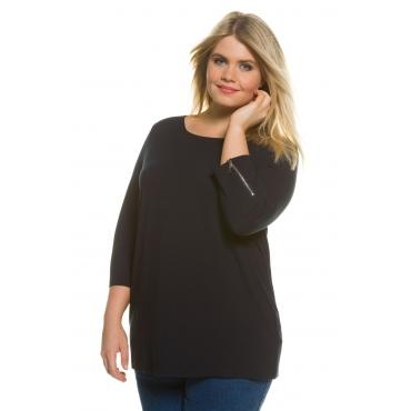 Ulla Popken  Shirt Damen Größe 46/48, dunkel bordeaux, Mode in großen Größen