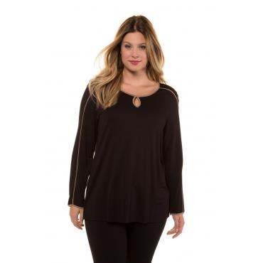 Ulla Popken  Shirt Damen Größe 58/60, schwarz, Mode in großen Größen