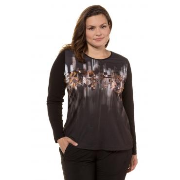 Ulla Popken Shirt Damen, schwarz, Baumwolle, Mode in großen Größen