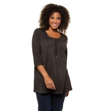 Ulla Popken  Shirt Damen Größe 50/52, schwarz, Mode in großen Größen