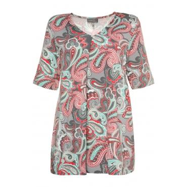 Ulla Popken  Shirt Damen 50/52, titangrau, Mode in großen Größen