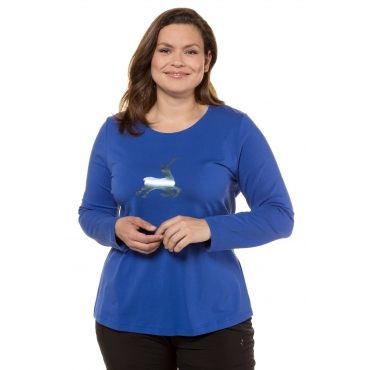 Ulla Popken  Shirt Damen 58/60, ultramarinblau, Baumwolle, Mode in großen Größen