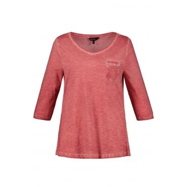 Ulla Popken Shirt Damen, rosenholz, Baumwolle, Mode in großen Größen
