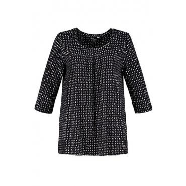 Ulla Popken Damen  Shirt, schwarz, Gr. 42/44, Mode in großen Größen