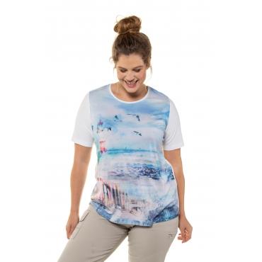 Ulla Popken Damen  Shirt, weiß, Gr. 58/60, Mode in großen Größen