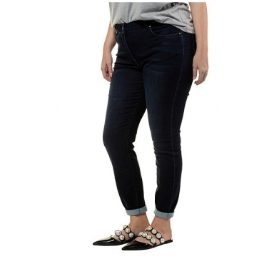 Studio Untold Damen  Skinny, Jeans, 5-Pocket, schmale Form, darkblue, Gr. 42, Mode in großen Größen