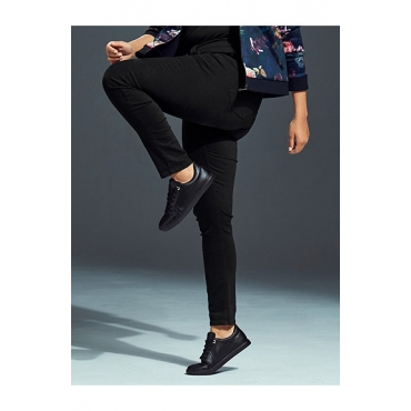 Ulla Popken Damen  Skinnyjeans aus ultrabequemem Stretchdenim, 5-Pocket, black, Gr. 58, Mode in großen Größen