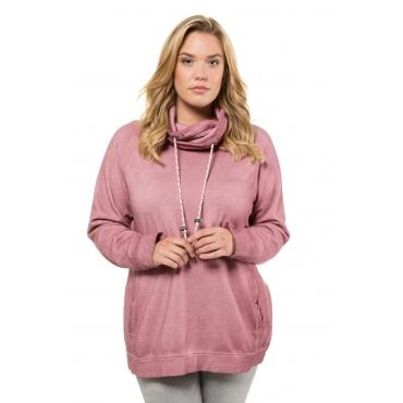 Ulla Popken  Sweatshirt Damen 54/56, purpur-pink, Baumwolle, Mode in großen Größen