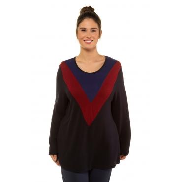 Ulla Popken  Sweatshirt Damen Größe 58/60, schwarz, Mode in großen Größen