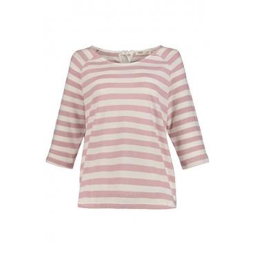 Ulla Popken Damen  Sweatshirt, Nackenschleife, Regular, Biobaumwolle, rosa-mauve, Gr. 58/60, Mode in großen Größen
