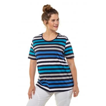 Ulla Popken  T-Shirt Damen 58/60, dunkelblau, Baumwolle, Mode in großen Größen