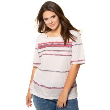 Ulla Popken  T-Shirt Damen 58/60, graubeige, Polyester, Mode in großen Größen