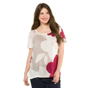 Ulla Popken T-Shirt Damen, graubeige, Mode in großen Größen