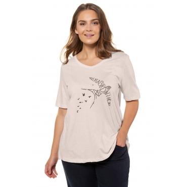 Ulla Popken  T-Shirt Damen Größe 58/60, marine, Mode in großen Größen