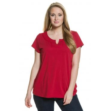 Ulla Popken  T-Shirt Damen Größe 54/56, mohn, Mode in großen Größen