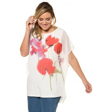 Ulla Popken  T-Shirt Damen 58/60, multicolor, Polyester, Mode in großen Größen