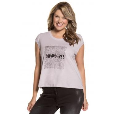 Ulla Popken  T-Shirt Damen 54/56, offwhite, Baumwolle, Mode in großen Größen