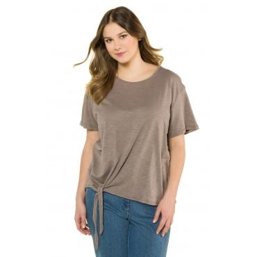 Ulla Popken  T-Shirt Damen 54/56, steinbraun, Baumwolle, Mode in großen Größen