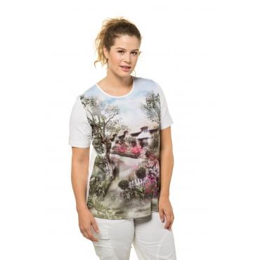 Ulla Popken  T-Shirt Damen 58/60, weiß, Baumwolle, Mode in großen Größen
