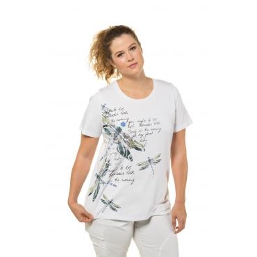 73772d6233 Ulla Popken T-Shirt Damen 58/60, palastblau, Baumwolle, Mode in ...