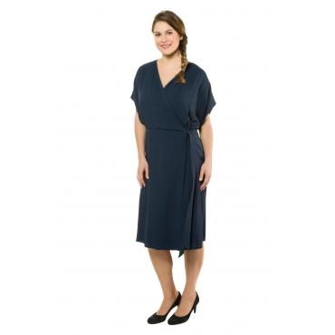 Ulla Popken Wickelkleid Damen, rauchblau, Mode in großen Größen