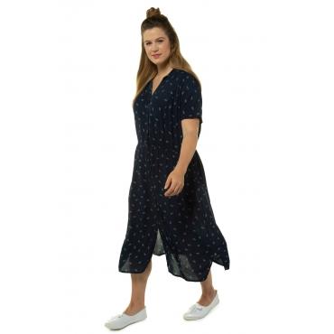 Ulla Popken  Hemdblusen-Kleid Damen Größe 58/60, marine, Mode in großen Größen