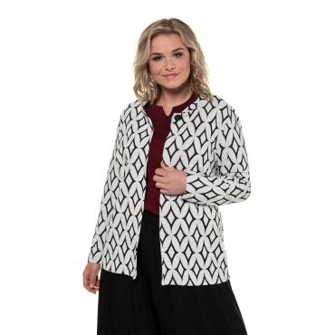 Ulla Popken Jacke Damen, weiß, Polyester, Mode in großen Größen
