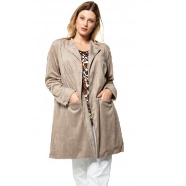 Ulla Popken  Jacke Damen 58/60, noisette, Polyester, Mode in großen Größen