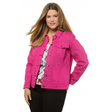 Ulla Popken Jeans-Jacke Damen, pink, Mode in großen Größen