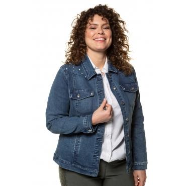 Ulla Popken Jeans Jacke Damen, blue denim, Mode in großen Größen