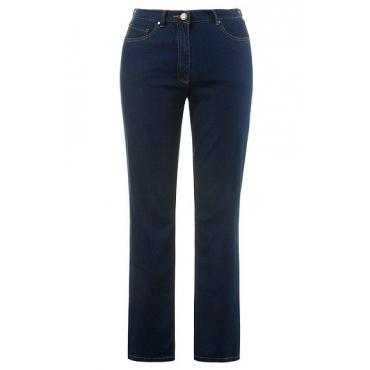 Ulla Popken Damen  Jeans Mandy, gerades Bein, Stretchkomfort, blue, Gr. 62, Mode in großen Größen