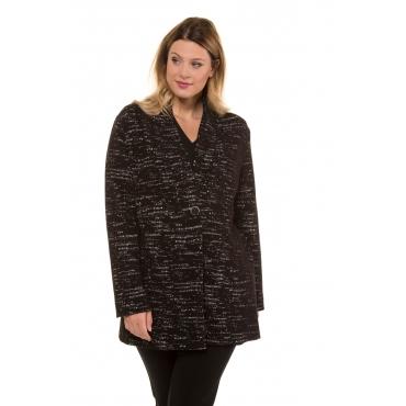 Ulla Popken  Jersey Jacke Damen 54/56, schwarz, Mode in großen Größen