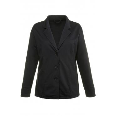 Ulla Popken  Jerseyblazer Damen 46, schwarz, Baumwolle, Mode in großen Größen
