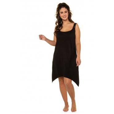 Ulla Popken  Jerseykleid -  Damen 58/60, schwarz, Baumwolle, Mode in großen Größen