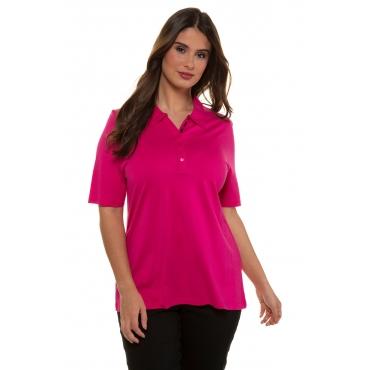 Ulla Popken  Polo Hemd Damen 58/60, pink, Mode in großen Größen
