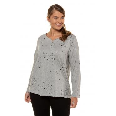 Ulla Popken  Shirt Damen 58/60, grau-melange, Baumwolle, Mode in großen Größen
