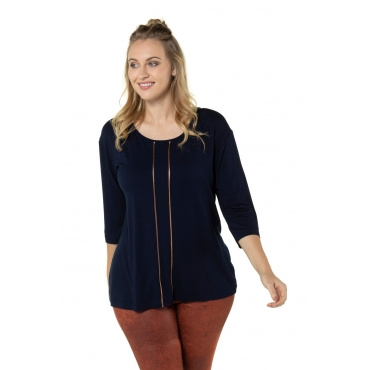 Ulla Popken  Shirt Damen Größe 58/60, kupfer-rot, Mode in großen Größen