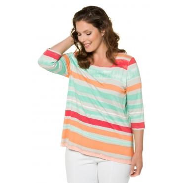 Ulla Popken Shirt Damen, multicolor, Mode in großen Größen