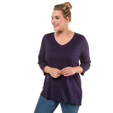 Ulla Popken  Shirts Damen 50/52, dunkel violett, Mode in großen Größen