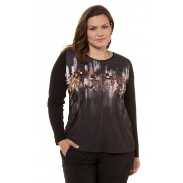 Ulla Popken  Shirts Damen 58/60, schwarz, Mode in großen Größen