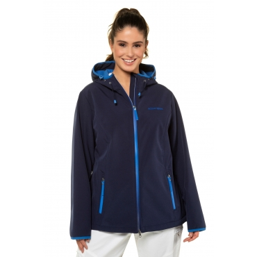 Ulla Popken Softshell-Jacke Damen, dunkelblau, Mode in großen Größen