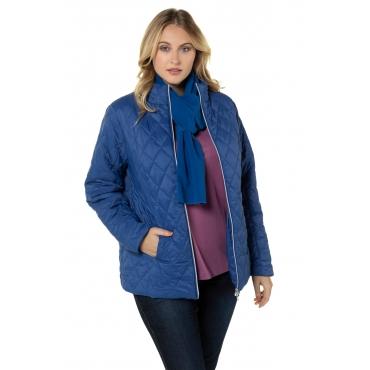 Ulla Popken Stepp-Jacke Damen, royalblau, Mode in großen Größen