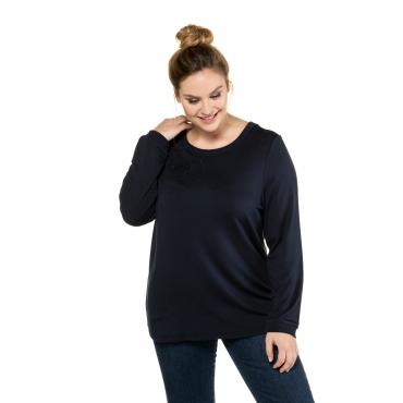 Ulla Popken Sweat-Shirt Damen, marine, Mode in großen Größen