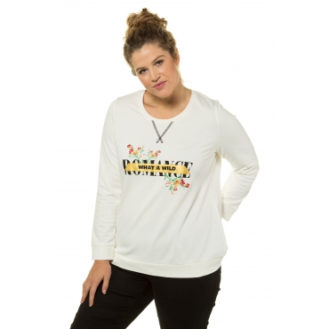 Ulla Popken Sweat-Shirt Damen, offwhite, Mode in großen Größen