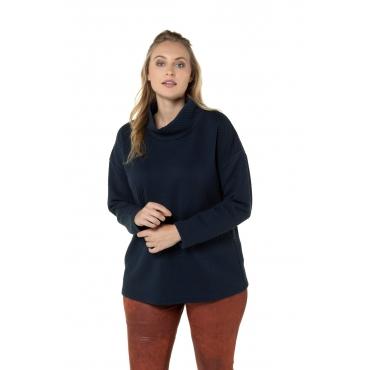 Ulla Popken Sweatshirt Damen, marine, Mode in großen Größen