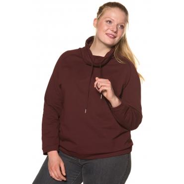 Ulla Popken  Sweatshirt Damen Größe 50/52, brombeere, Mode in großen Größen